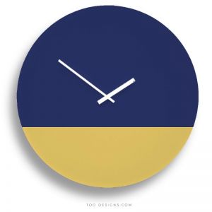 TOO tone wall clocks by TOO designs - Cobalt Blue and Lemon Yellow