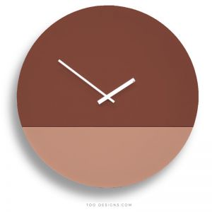 TOO tone wall clocks by TOO designs - Salmon Pink and Oxide Red