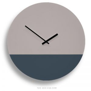 TOO tone wall clocks by TOO designs - Stone Grey and Slate Blue