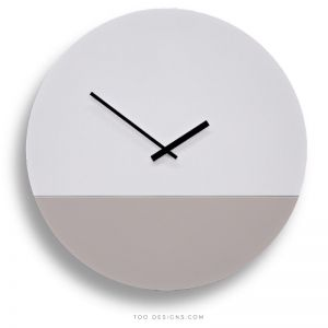 TOO tone wall clocks by TOO designs - White & Stone grey