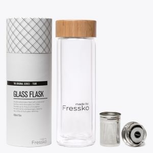 Tour Glass Flask with 2 in 1 Infuser 400ml / 13oz