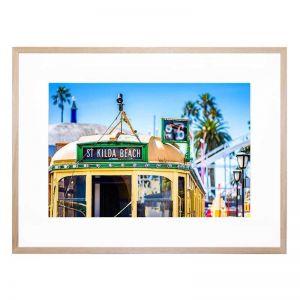 Tram To St Kilda Beach   Framed Print   By United Interiors