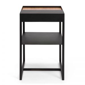 Tray Storage Ledge Bedside Table | BLACK | CLU Living