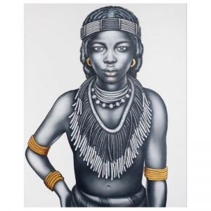 Tribal Girl | 3025-Mono | Painting | Colour Clash Studio