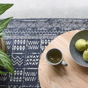 Tribal Indoor Outdoor Rug | Blue | by Collective Sol