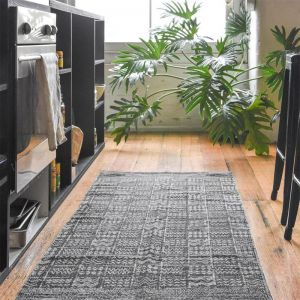 Tribal Indoor Outdoor Runner Rug | Latte | by Collective Sol