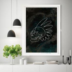 Tribe   Skull Art Print   Framed or Unframed