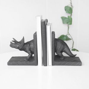 Triceratops Bookends | Black