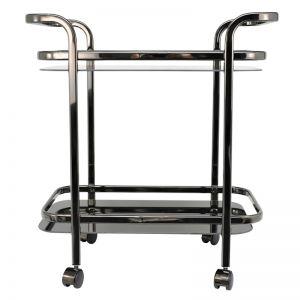 Trist Glass Trolley | Black Nickel