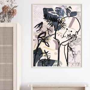 Tropical Queen | Art Print Framed or Unframed | by Jenna Paige
