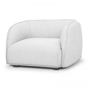 Troy Fabric Armchair | Light Grey