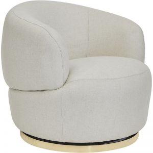 Tubby Swivel Occasional Chair | Natural Linen, Black Linen, Black Plaid or Caramel Velvet