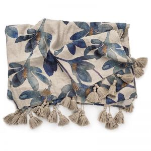 Tulip Throw | Blue Floral