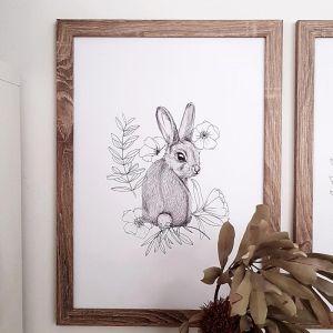 Turning Bunny Print