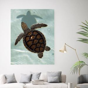 Turtle Love Two | Canvas Wall Art by Beach Lane
