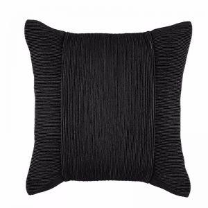 Tuxedo Square Cushion by Kas Australia | Black