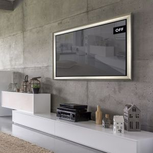 TV Mirror   Framed Mirror TV 55 Inch with Ornate Options