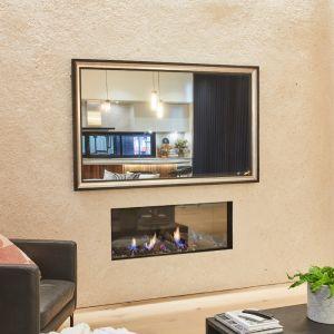 TV-Mirror with Black and Silver Leaf Frame   Daniel & Jade 2020