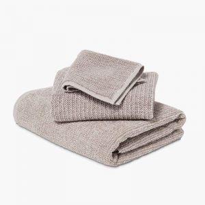Tweed Latte Towels | Face Towel