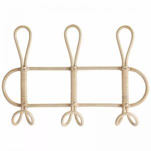 Twist Rattan Wall Hanger 3 Hooks | by Black Mango