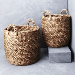 *Twisted Waterhyacinth Basket with Twill Pattern - delivery Oct/Nov 2019