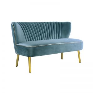 Two Seater | Velvet | Steel Blue
