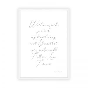 Two Souls in Love Forever | Typography Print