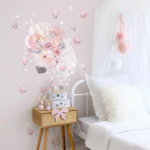 Unicorns & Butterflies Wall Sticker by Schmooks