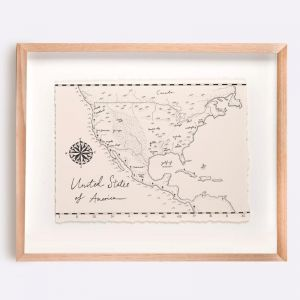 United States of America Map Illustration | Print by Adrianne Design