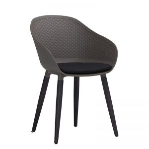 Unity Arm Chair   Taupe & Black