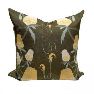 Untamed Banksia 'Fern' Cushion | By Tim Neve