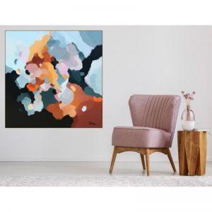 Up In The Clouds 17 | Original Artwork Framed in Oak by Lauren Danger