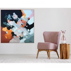 Up In The Clouds 18 | Original Artwork Framed in Oak by Lauren Danger