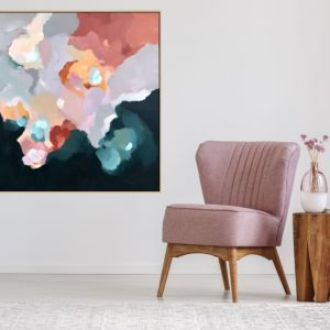 Up In The Clouds 2 | Framed Canvas | Limited Edition Print by Lauren Danger (head in the clouds)
