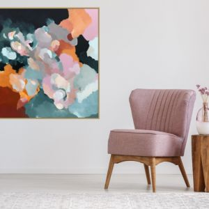 Up In The Clouds | Framed Canvas | Limited Edition Print by Lauren Danger (head in the clouds)