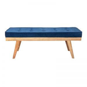 Upholstered Bench Seat | Capella Blue
