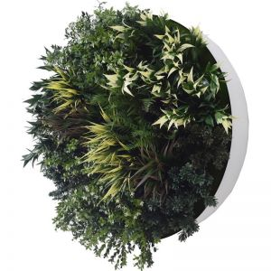 UV Green Fields 80cm Green Wall Disc | White
