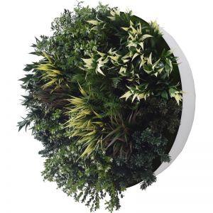 UV Green Fields 80cm Green Wall Disc | White