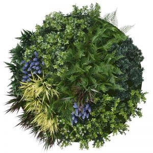 UV Lavender Fields Green Wall Disc | White | 100cm