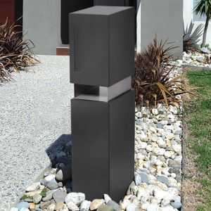 Valencia Steel Pillar Letterbox | Available in 3 Colours
