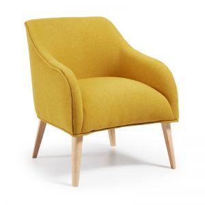 VALENTINE Upholstered Armchair | Mustard