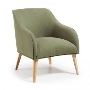 VALENTINE Upholstered Armchair | Olive Green