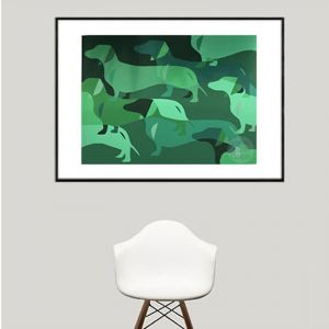 Valley of the Dachshunds | Limited Edition | Fine Art Giclee Print
