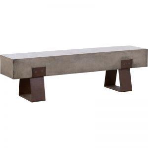 Vault 160cm Concrete Bench | Dark Grey & Rust
