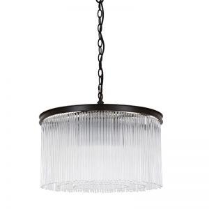 Veil 6 Light Pendant in Antique Black | By Beacon Lighting