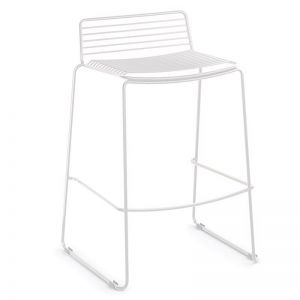 Velletri White Indoor Outdoor Kitchen Counter Bar Stool