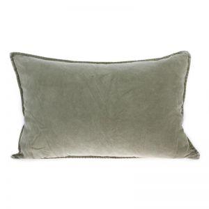 Velvet Cushion   Green   HK Living