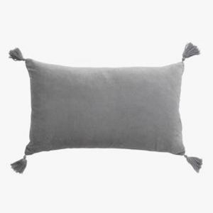 Velvet Petite Cushion | Smoke