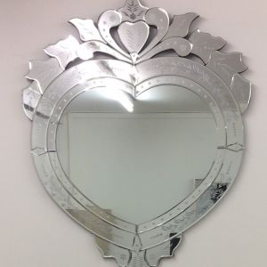 Venetian Heart Shaped Mirror | by Dasch Design