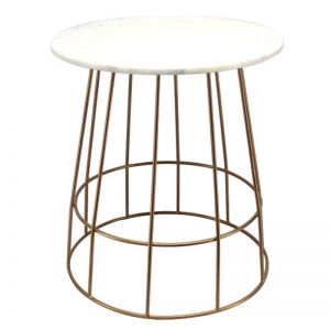 Venus Side Table with Marble Table Top